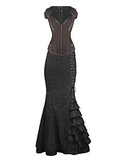 Для женщин Классический корсет Ночное белье Ретро Жаккард-Средний Спандекс Женский