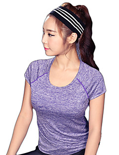 Women's Short Sleeve Running T-shirt Sweatshirt Breathable Quick Dry Reflective Strips Sweat-wicking Comfortable Spring Summer Fall/Autumn
