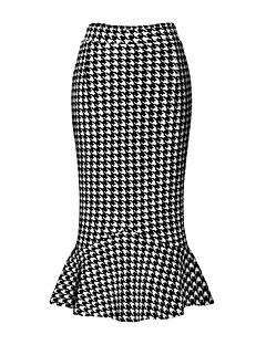 Damen Röcke - Street Schick Midi Polyester / Elasthan Mikro-elastisch