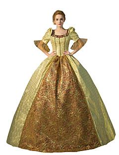 Jednodílné/Šaty Gothic Lolita Steampunk® / Viktoria Tarzı Cosplay Lolita šaty Zlatá Jednobarevné Polodlouhé rukávy Long Length Šaty Pro