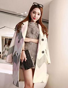 Glitzern der Frauen nette / anspruchsvolle Mantel, feste Kapuze lange Hülse Winter rosa Bambusfaser dicke Ausgehen