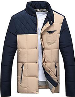 コート レギュラー パッド入り メンズ,カジュアル/普段着 カラーブロック コットン 中綿なし 長袖
