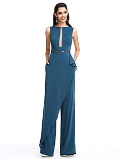 TS Couture® Formální večer Šaty Pouzdrové Bateau Na zem Šifón s Korálky / Šerpa / Stuha