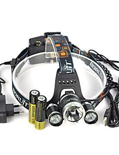 Verlichting Hoofdlampen Hoofdlampband veiligheidslichten LED 13000 Lumens 1 Modus Cree XM-L T6 18650 Hoeklamp Super Light