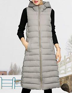 婦人向け ノースリーブ ダウン コート,ストリートファッション ポリエステル