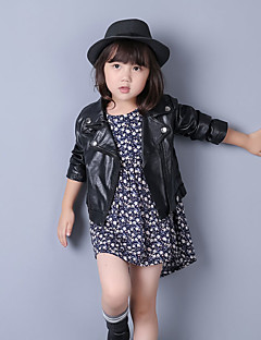 Girl's Casual/Daily Solid Jacket & CoatPU Fall Black