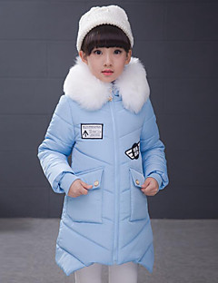 Girl's Casual/Daily Patchwork Down & Cotton Padded / Suit & BlazerPolyester Winter Blue / Pink / Purple