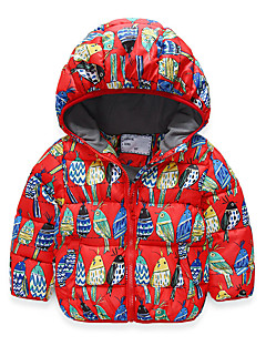 Boy's Casual/Daily Print Down & Cotton PaddedSpandex Winter / Fall Black / Red
