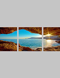 キャンバスセット 風景3枚 横長 版画 壁の装飾 For ホームデコレーション