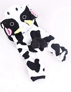 Cat Dog Costume Clothes/Jumpsuit Dog Clothes Winter Spring/Fall Animal Cute Cosplay White/Black