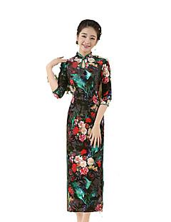 Szoknya Klasszikus és hagyományos Lolita Cosplay Lolita ruhák Fekete Régies (Vintage) 3/4-es ujj Hosszú hossz Mert Selyem