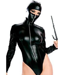 Costumes More Costumes Halloween Black Patchwork Terylene Leotard/Onesie