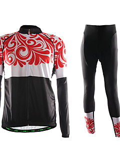 TVSSS חולצה וטייץ לרכיבה לגברים שרוול ארוך אופניים נושם שמור על חום הגוף לביש דחיסה חומרים קלים 3D לוח בד קל מאוד נוח מדים בסטיםפוליאסטר