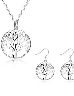 Schmuck Halsketten / Ohrringe Halskette / Ohrringe Modisch Alltag / Normal 1 Set Damen Weiß Hochzeitsgeschenke