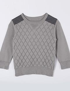 Jungen Pullover & Cardigan-Lässig/Alltäglich einfarbig Baumwolle Herbst Grau