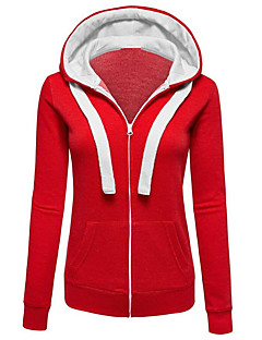 Women's Plus Size / Casual/Daily Simple / Active Regular Plus Size HoodiesColor Block Loose  Fashion Hooded Long Sleeve