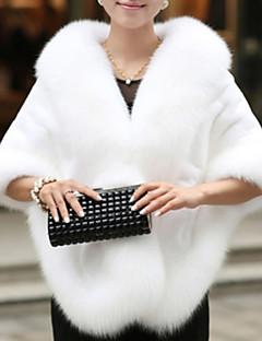 Women Faux Fur Shawl & Wrap , Lined