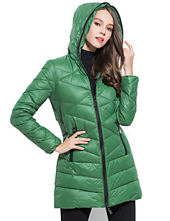 Damen Daunen Mantel - Einfach Langarm Nylon