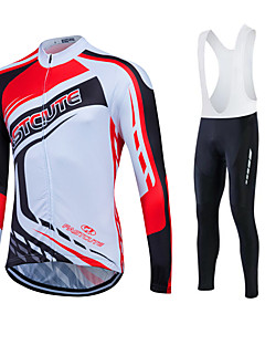 Fastcute® Cycling Jersey with Bib Tights Women's / Men's / Unisex Long Sleeve BikeBreathable / Quick Dry / Moisture Permeability / 3D Pad