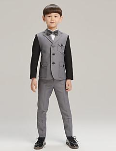 Хлопок Детский праздничный костюм - 4 Куски Включает в себя Жакет / Рубашка / Брюки / Галстук-бабочка
