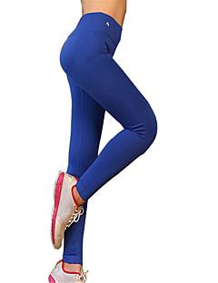 Yogabukser Bukser Tights Underdele Åndbart Hurtigtørrende Komprimering Naturlig Høj Elasticitet Sportstøj Grå Sort Blå DameYoga Pilates