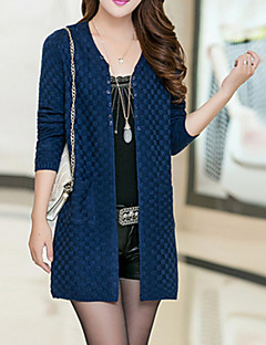 Women's Vintage/Casual Micro-elastic Thick Long Sleeve Cardigan (Knitwear/Cotton Blends) SF7A03