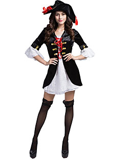 Cosplay Kostumer / Festkostume Oktoberfest / Karriere Kostumer Festival/Højtider Halloween Kostumer Blå Farveblok Nederdel / Hatte