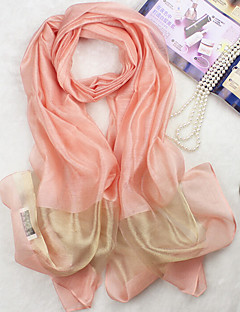 Silk ScarfCasual RectangleBlack / White / Green / Blue / Pink / Yellow / Gray / Purple / Orange / Beige / KhakiSolid