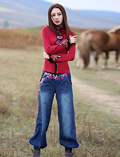 Kvinders Boheme Harem / Jeans Bukser Mikroelastisk Bomuld
