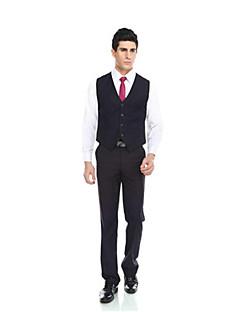 Patterns Wool & Polyester Blend Dark Navy Pockets