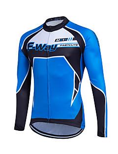 fastcute חולצת ג'רסי לרכיבה לנשים לגברים לילדים יוניסקס שרוול ארוך אופנייםנושם שמור על חום הגוף ייבוש מהיר רוכסן קדמי רוכסן YKK דחיסה