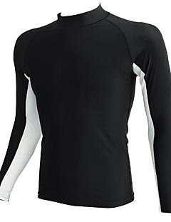 Sports Men's Swimwear Compression / Comfortable Swimwear Tops Adjustable Adjustable Black / Blue Black / Blue S / M / L