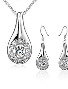 Schmuck Halsketten / Ohrringe Halskette / Ohrringe Modisch Party / Alltag / Normal 1 Set Damen Weiß Hochzeitsgeschenke
