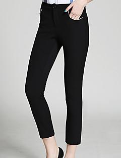 burdully kvinders solid sort / brun chinos pantssimple