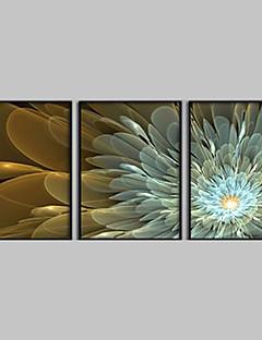 Abstrakte Blumen Gerahmte Leinwanddruck 3-er Set