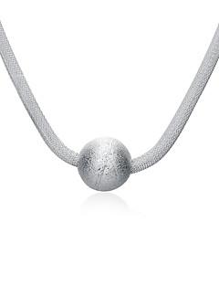 Modische Halsketten Anhängerketten Schmuck Alltag / Normal Modisch Aleación / versilbert Weiß 1 Stück Geschenk