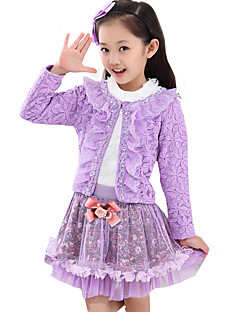 Girl's Casual/Daily Solid Dress,Others Spring / Fall Multi-color