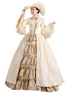 /שמלותחתיכה אחת לוליטה גותי / לוליטה מתוקה / לוליטה קלאסית ומסורתית / לוליטה פאנק Steampunk® / ויקטוריאני Cosplay שמלות לוליטה בז' פרחוני