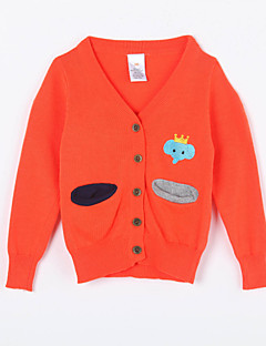 Girl's Casual/Daily Solid Sweater & CardiganCotton Fall Orange