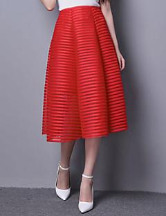 Damen Röcke - Anspruchsvoll Midi Nylon Unelastisch