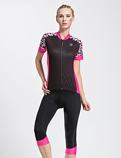 Sports Cycling Jersey with Shorts Women's Short Sleeve BikeBreathable / Quick Dry / 3D Pad / Reflective Strips / Back Pocket /