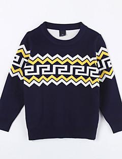 Mädchen Pullover & Cardigan-Lässig/Alltäglich Geometrisch Baumwolle Herbst Blau