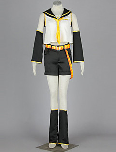 Inspired by Vocaloid Kagamine Rin Anime Cosplay Costumes Cosplay Suits Patchwork WhiteShirt / Skirt / Headpiece / Headband / Tie /