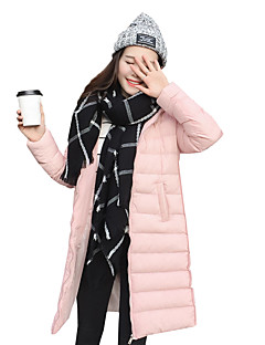 Women's Solid Slim All Match Fashion Hin Thin Padded Coat Simple Hooded Long Sleeve
