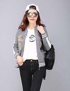 yang x-m das mulheres plus size / sair jaquetas chinoiserie bloco de cores / bordados