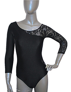 Nylon/Lycra One Lace Sleeve Dance Leotard Ballet Dancewear More Colors for Girls and Ladies