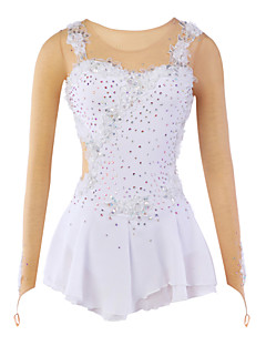 Ice Skating Dress Women's / Kid's / Girl's Skating Dresses High Elasticity Figure Skating Dress Breathable / Wearable Flower(s)Spandex /