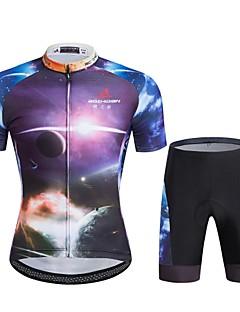 Esportivo Camisa com Shorts para Ciclismo Unissexo Manga Curta MotoRespirável / Secagem Rápida / A Prova de Vento / Design Anatômico /