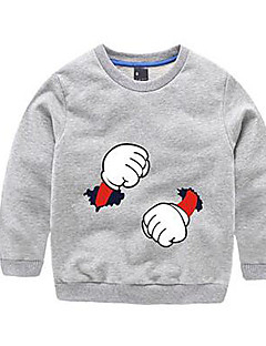 Boy's Casual/Daily Solid Hoodie & SweatshirtCotton Spring / Fall Pink / Red / White / Yellow / Gray