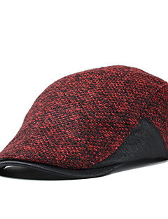 Men Womem England Vintage Casual Tweed Stitching Color Mixing Wool Beret Casquette Hat